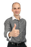 Businessman showing his thumb up Royalty Free Stock Photo