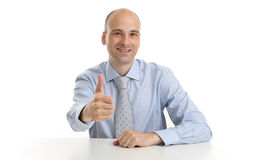 Businessman showing his thumb up Stock Photos