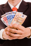 Businessman showing money Royalty Free Stock Photography