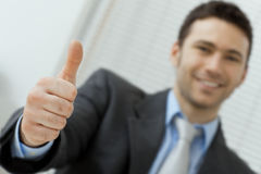Businessman showing OK Stock Image