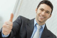 Businessman showing OK Royalty Free Stock Photos