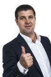 Businessman showing OK gesture Stock Photography