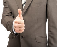 Businessman showing ok Royalty Free Stock Images