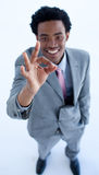 Businessman showing ok sign Royalty Free Stock Photography