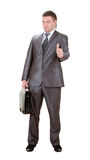 Businessman showing OK sign Royalty Free Stock Photos