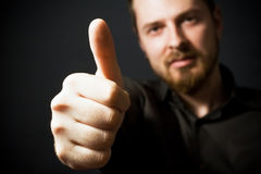 Businessman Showing Ok Sign Royalty Free Stock Images