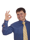Businessman showing OK sign and smile Stock Photography