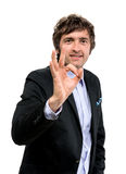 Businessman  showing ok sign Stock Photography