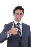 Businessman showing ok Royalty Free Stock Image