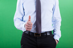 Businessman showing okay gesture Stock Images
