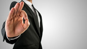 Businessman Showing Okay Hand Gesture Royalty Free Stock Photo