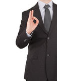 Businessman showing okay sign Royalty Free Stock Photos