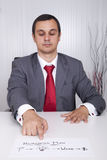 Businessman showing the path for success Royalty Free Stock Images