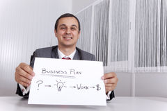 Businessman showing the path for success Royalty Free Stock Image