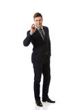 Businessman showing perfect sign. Stock Photography