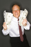Businessman Showing Profits Stock Images