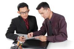 Businessman showing proposal Stock Photos