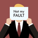 Businessman showing sign not my fault failed Royalty Free Stock Photo