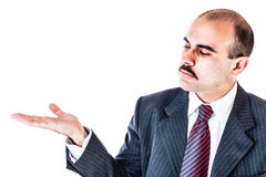 Businessman showing something Stock Photos