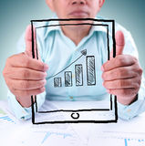 Businessman showing success Royalty Free Stock Images