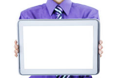 Businessman showing tablet Royalty Free Stock Photography