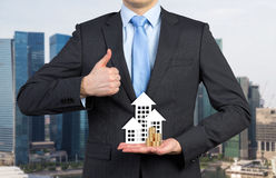 Businessman showing thumb up Stock Photography