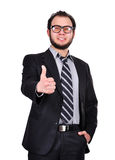 Businessman showing thumb up Royalty Free Stock Photography