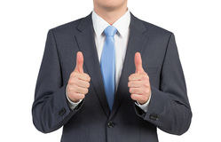 Businessman showing thumb up Stock Images