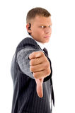 Businessman showing thumbs down Royalty Free Stock Photo