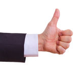 Businessman showing thumbs up Royalty Free Stock Image