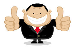 Businessman showing thumbs up. Separate layers Stock Image