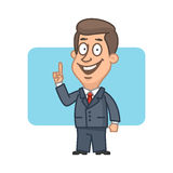 Businessman showing thumbs up and smiling Stock Photography