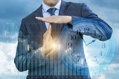 Businessman showing time out . royalty free stock images
