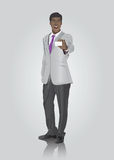 Businessman showing white card Royalty Free Stock Image