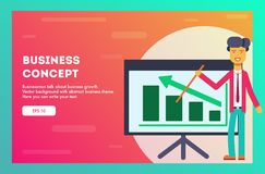 Business concept. Vector background royalty free illustration