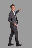 Businessman  shows in a distance Stock Photo