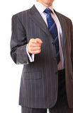 A businessman shows a gesture. Royalty Free Stock Image