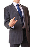 A businessman shows a gesture. Royalty Free Stock Photo