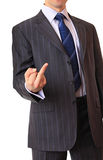 A businessman shows a gesture. Stock Images