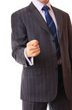 A businessman shows a gesture. Royalty Free Stock Images