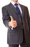 A businessman shows a gesture. Royalty Free Stock Photography