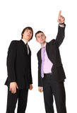 Businessman shows the manager for the project Royalty Free Stock Photos