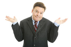 Businessman Shrugs Stock Photos