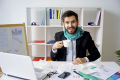 Businessman is sick Stock Photo