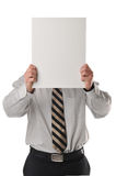 Businessman with sign Stock Photography