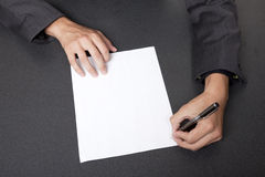 Businessman - sign contract Royalty Free Stock Photography