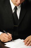 Businessman the signing contract Royalty Free Stock Photography