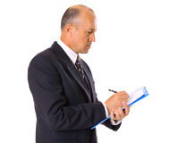Businessman signing of contract Royalty Free Stock Images