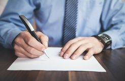 Businessman signing contract. Business concept Royalty Free Stock Image