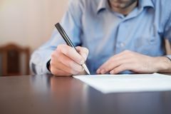 Businessman signing contract. Business concept Royalty Free Stock Images